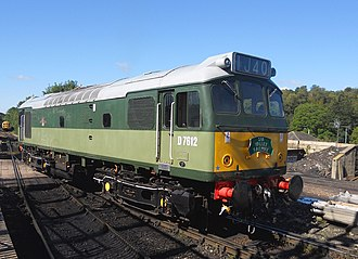 British Rail Class 25 - British Railways Class 25 D7612 runs round the train at Tunbridge Wells West at the Spa Valley Railway