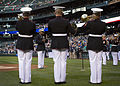 1st Marine Division Band performs National Anthem at Seattle Mariners baseball game 140425-M-MM918-003.jpg