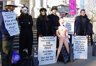 Stuckist demonstrations - Stuckists artists satirise the Chapman brothers at Tate Britain, December 7, 2003