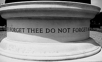Royal Hospital Chelsea - An inscription on the statue of a Pensioner outside the hospital