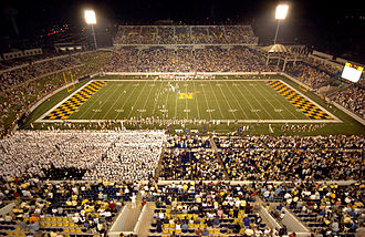 Football at the 1984 Summer Olympics - Image: 2005 Stanford Navy Game at Navy Marine Corps Memorial Stadium