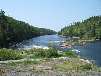French River (Ontario) - Recollet Falls of the French River near Hwy. 69