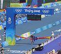 2008 Olympic triathlon women - Emma Snowsill winning.JPG