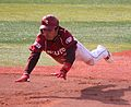 20120320 Ryo Hijirisawa,outfielder of the Tohoku Rakuten Golden Eagles,at Yokohama Stadium.JPG
