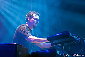 Derek Sherinian - Derek performing with Portnoy/Sheehan/MacAlpine/Sherinian at De Boerderij in Zoetermeer, The Netherlands on Oct 21, 2012