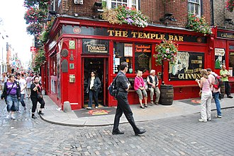 Temple Bar, Dublin - The Temple Bar Pub on Temple Lane