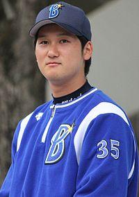 20140429 Tomoya Mikami pitcher of the Yokohama DeNA BayStars, at Yokohama Stadium.JPG
