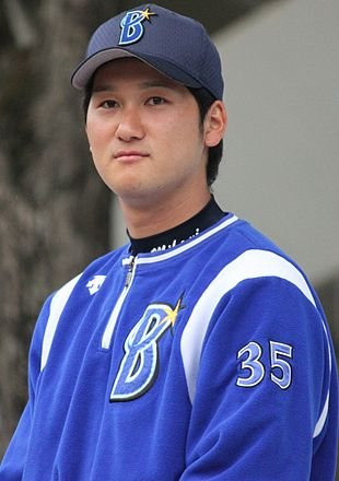20140429 Tomoya Mikami pitcher of the Yokohama DeNA BayStars, at Yokohama Stadium.JPG