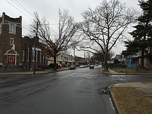 Wilbur, Trenton, New Jersey - Greenwood Avenue (New Jersey Route 33) in Wilbur