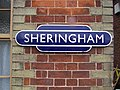 2017-01-13 North Norfolk Railway, Name sign Sheringham Station.JPG