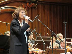 Jane Birkin - Birkin performing in Warsaw, 2017.