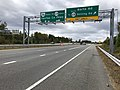 2018-10-29 12 45 12 View north along Virginia State Route 286 (Fairfax County Parkway) at the exit for Barta Road (To Virginia State Route 638 SOUTH-Rolling Road) in Newington, Fairfax County, Virginia.jpg
