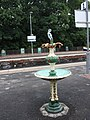 2018 at Pitlochry station - fountain.JPG