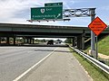 2019-05-29 12 36 30 View south along Interstate 95 and U.S. Route 17 at Exit 130A (Virginia State Route 3 EAST, Fredericksburg) in Fredericksburg, Virginia.jpg