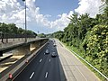 2019-07-05 17 21 29 View north along the northbound lanes of Interstate 270 Spur from the overpass for Westlake Terrace along the edge of North Bethesda and Potomac in Montgomery County, Maryland.jpg