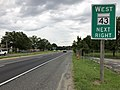 2020-08-03 16 35 21 View west along Maryland State Route 150 (Eastern Boulevard) at the exit for Maryland State Route 43 WEST (White Marsh Boulevard) in Middle River, Baltimore County, Maryland.jpg
