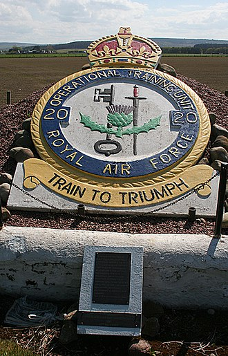 RAF Lossiemouth - 20 OTU Memorial at Bogs of Mayne.