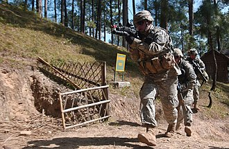 21st Infantry Regiment (United States) - An assault team from C Company, 3rd Battalion, 21st Infantry Regiment clears an objective during a demonstration for Battalion, 5th Group, 5th Gurkha Rifles (Frontier Force) during Exercise Yudh Abhyas
