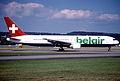 243bk - Belair Boeing 767-3Q8ER, HB-ISE@ZRH,18.06.2003 - Flickr - Aero Icarus.jpg