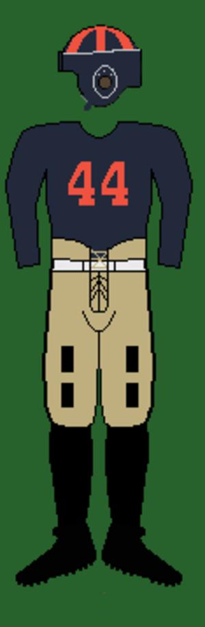 1932 Auburn Tigers football team - Image: 30s Auburnuniform