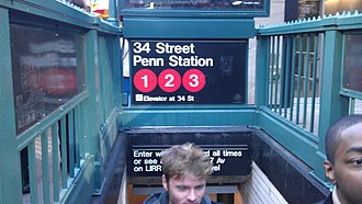 34th Street–Penn Station (IRT Broadway–Seventh Avenue Line) - 33rd Street Staircase
