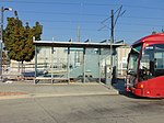 3500 South MAX bus stop at Millcreek station, Aug 16.jpg