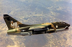 William D. Curry - Image: 354th Tactical Fighter Wing A 7D Corsair II 71 0354