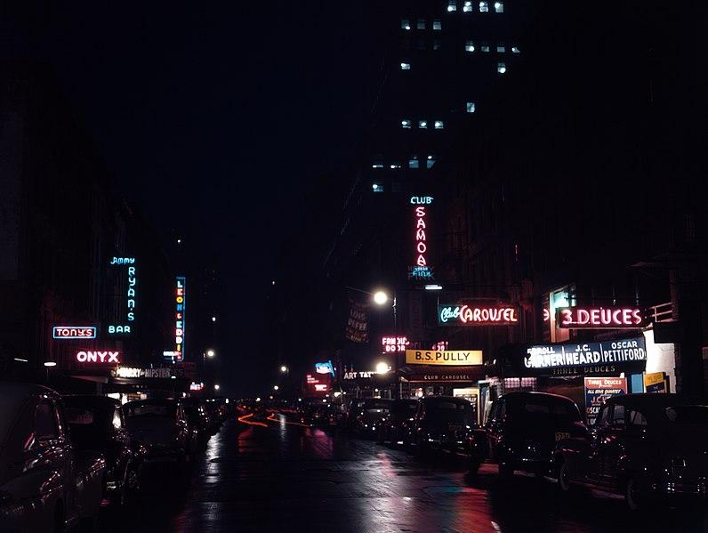 File:52nd Street, New York, by Gottlieb, 1948.jpg