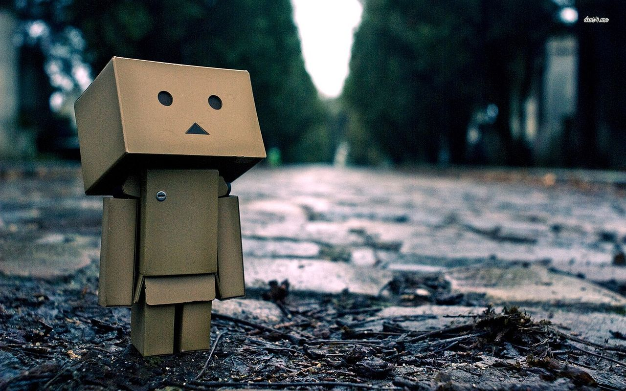 File5386 Danbo On The Street 1680x1050 Digital Art Wallpaper