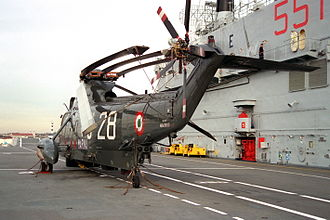 Italian aircraft carrier Giuseppe Garibaldi - SH-3 Sea King on deck