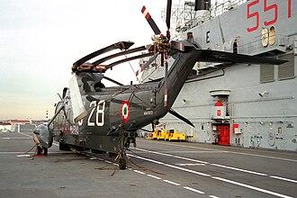 Italian aircraft carrier Giuseppe Garibaldi - SH-3 Sea King on deck