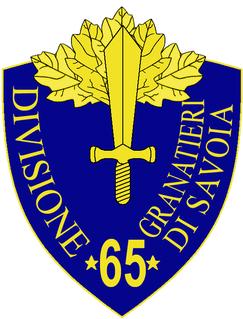 65th Infantry Division Granatieri di Savoia division