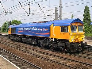London Underground diesel locomotives - A class 66 in Metronet livery