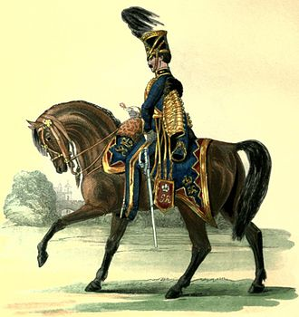 British Army during the Victorian Era - Trooper of the 7th Queen's Own Hussars, 1842