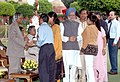 A.P.J. Abdul Kalam and the Prime Minister, Dr. Manmohan Singh interacting with the invitees at the 'At Home' function organised at Rashtrapati Bhavan on the occasion of the 60th Independence Day in New Delhi.jpg