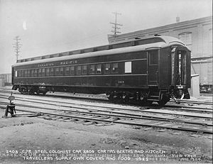 Colonist car - Canadian Pacific Railway colonist car No. 2809, 1924