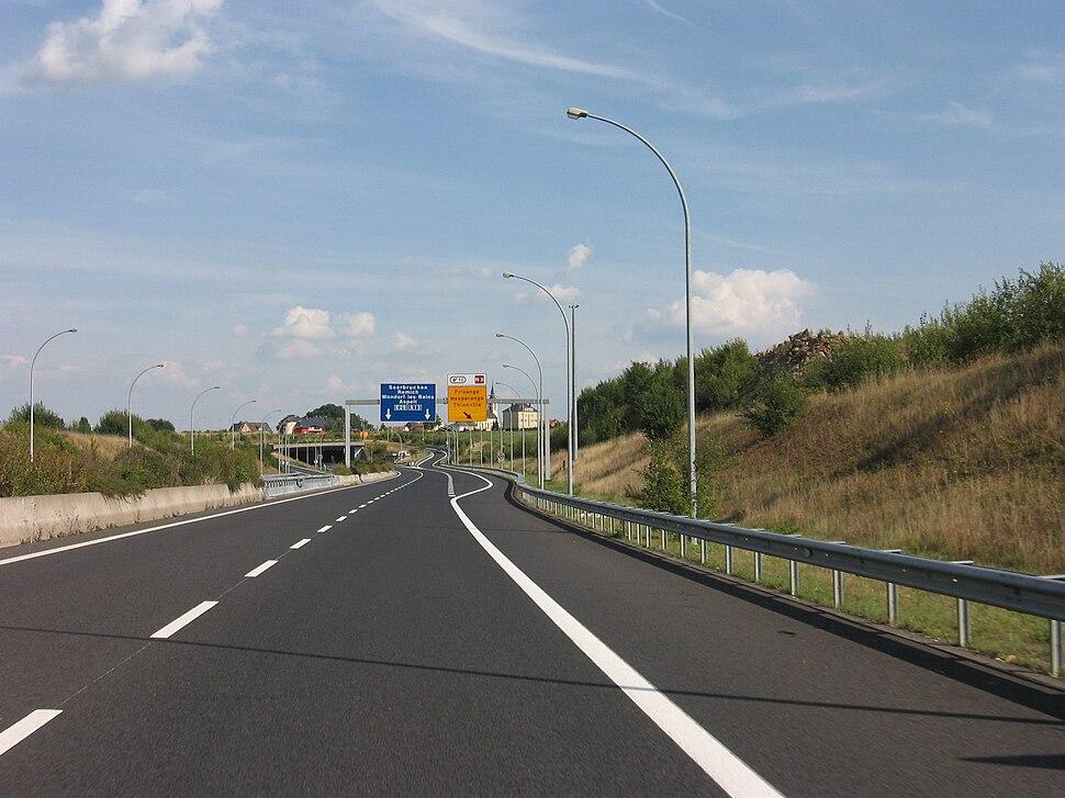 A13 (Luxemburg) bei Frisange