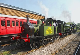 Kent and East Sussex Railway - The grand cavalade at Tenterden Town Station during a Steam Gala on the Kent and East Sussex Railway