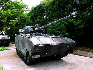 AMX-10P - A Singapore Army AMX-10P PAC-90 with 90mm gun