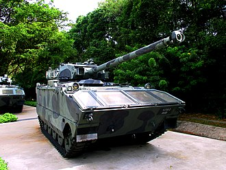 AMX-10P - A Singapore Army AMX-10P PAC-90 with 90mm gun