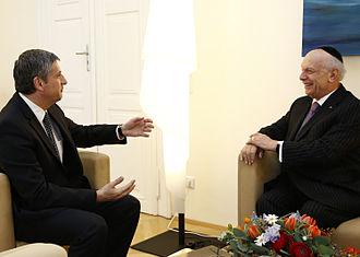 Arthur Schneier - Rabbi Schneier with Austrian Minister of Finance Michael Spindelegger