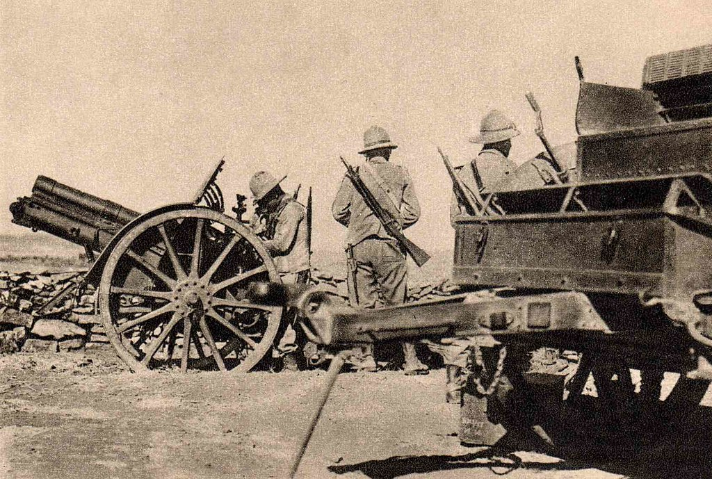 artillería italiana en el Tembién