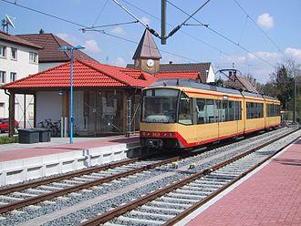 Katzbach Railway - Stadtbahn train of the S31 in Odenheim station