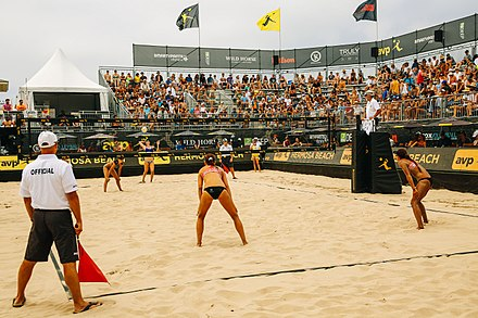 A Women S Match At The 2017 Hermosa Beach Open One Of Tournaments In