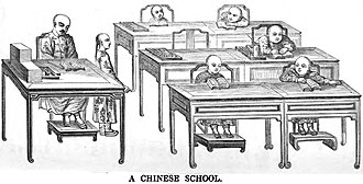 History of education in China - A Chinese School (1847)