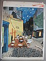 A Copy of Van Gogh's Terrace of the café on the Place du Forum in Arles in the evening, A Watercolor ink painting of Soenke Rahn (schooldays in the 80s).JPG