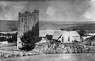 A copy of a photograph of Newport (Penf) church in 1860