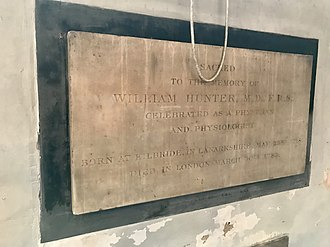 William Hunter (anatomist) - A memorial to William Hunter in St James's Church, Piccadilly.