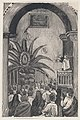 A priest conducting mass from a balcony, an image of the Virgin of Guadalupe set in palm tree MET DP874512.jpg