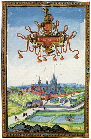 Floreffe Abbey - Floreffe abbey in 1604. Albums of Croÿ.